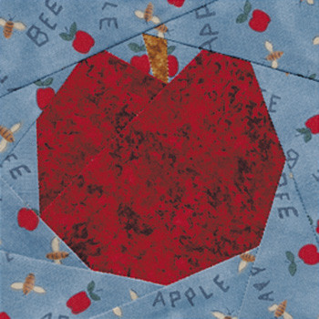 McIntosh Apple Paper Pieced Quilt Block Pattern