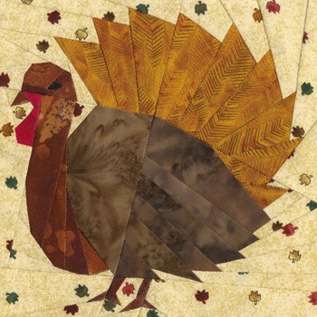 November Turkey Paper Pieced Quilt Block Pattern