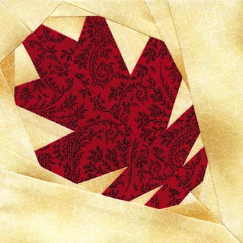 Oak Leaf Paper Pieced Quilt Block Pattern