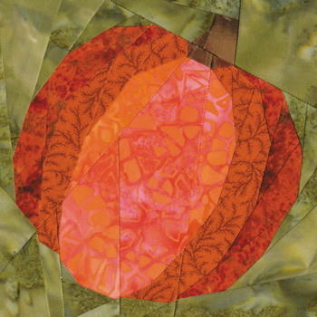 October Pumpkin Paper Pieced Quilt Block Pattern