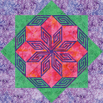 Heavenly Hibiscus Paper Pieced Quilt Pattern