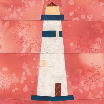 Portland Head Light Paper Pieced Quilt Block Pattern