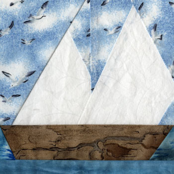 Sailboat Paper Pieced Quilt Block Pattern