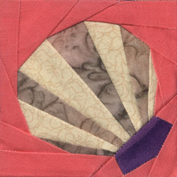 Scallop Paper Pieced Quilt Block Pattern