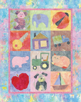 Baby's Favorite Things Paper Pieced Quilt Pattern