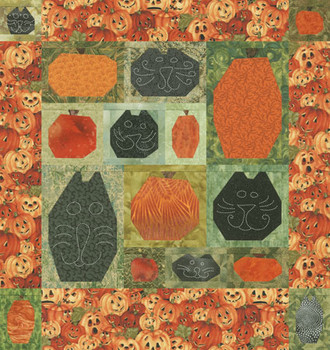 Pumpkin Cats Paper Pieced Quilt Pattern