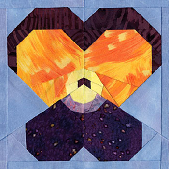 Viola Paper Pieced Quilt Block Pattern