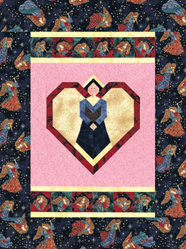 Valentine Angel Paper Pieced Quilt Pattern
