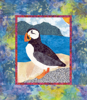 Atlantic Puffin Paper Pieced Quilt Pattern