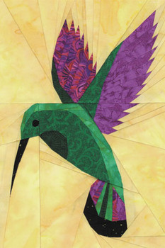 Mango Hummingbird Paper Pieced Quilt Pattern