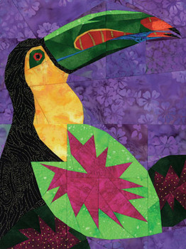Rainbow-Billed Toucan Paper Pieced Quilt Pattern