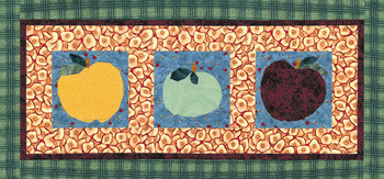 Apple Banner Paper Pieced Quilt Pattern
