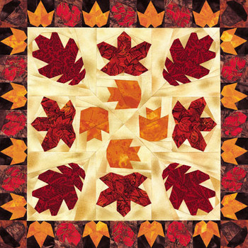 Falling Leaves Paper Pieced Quilt Pattern