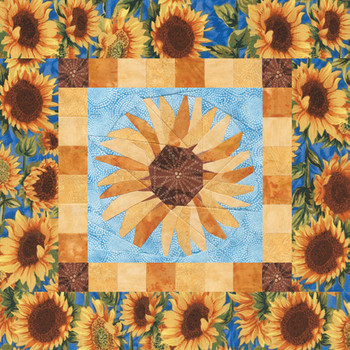 Gardener's Album Sunflower Paper Pieced Quilt Pattern