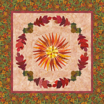 Harvest Wreath Paper Pieced Quilt Pattern