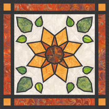 Sunflower's Garden Paper Pieced Quilt Pattern