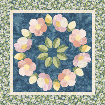 Sweet Rose Wreath Paper Pieced Quilt Pattern