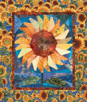 Twirling Sunflower Paper Pieced Quilt Pattern