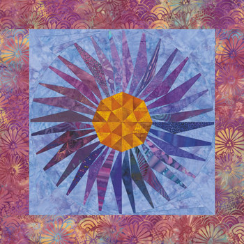 Wild Aster Paper Pieced Quilt Pattern
