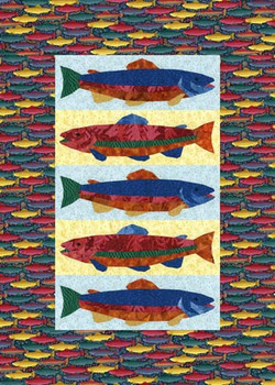 Trout Farm Paper Pieced Quilt Pattern