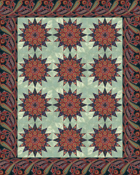 Serendipity Kaleidoscope Paper Pieced Quilt Pattern