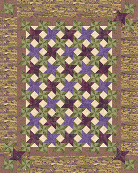 Rhapsody in Bloom Paper Pieced Quilt Pattern