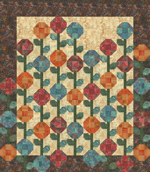 Posy Patch Paper Pieced Quilt Pattern