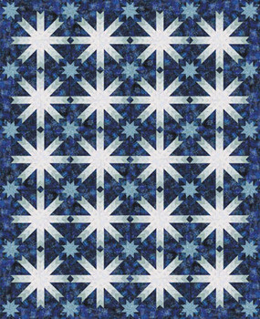Holiday Star Paper Pieced Quilt Pattern
