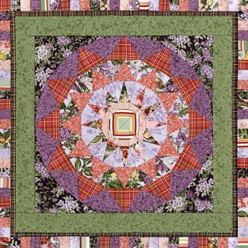 Giant Dahlia Paper Pieced Quilt Pattern