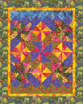 Cottage Garden Paper Pieced Quilt Pattern
