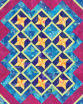 Banana Twist Paper Pieced Quilt Pattern