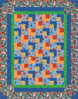 Dino Tracks Paper Pieced Quilt Pattern