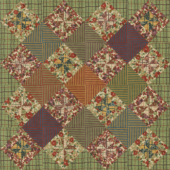 Autumn Patches Paper Pieced Quilt Pattern