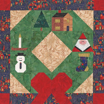 Yuletide Wishes Paper Pieced Quilt Pattern