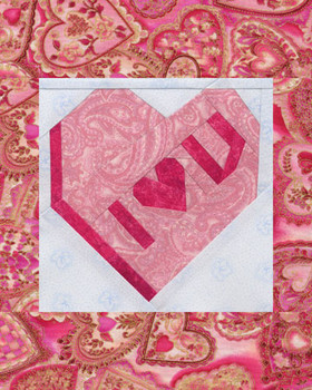 Sweet Valentine Paper Pieced Quilt Pattern