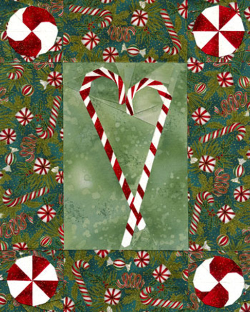 Peppermint Twists Paper Pieced Quilt Pattern