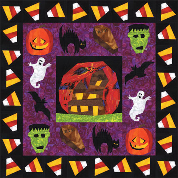 All Hallows Eve Paper Pieced Quilt Pattern