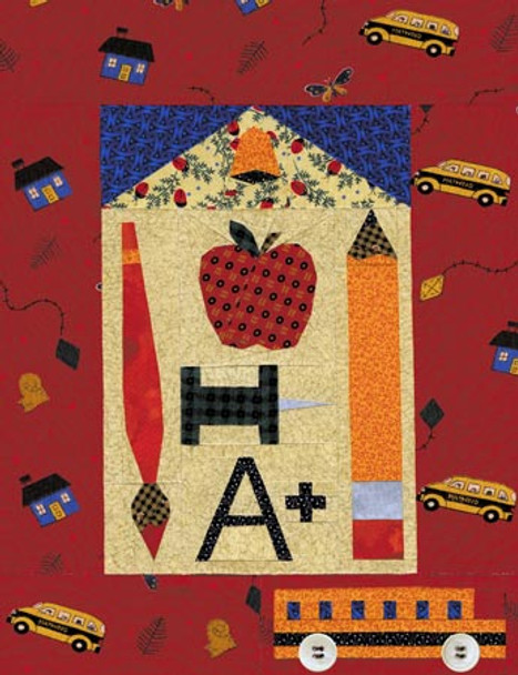 School Days Paper Pieced Quilt Pattern