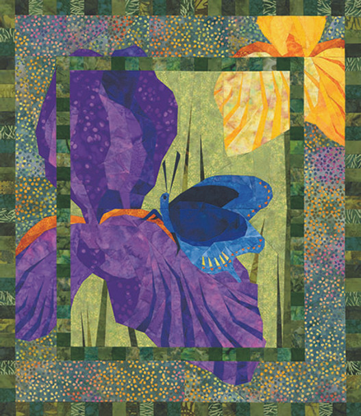 Backyard Beauties Paper Pieced Quilt Pattern