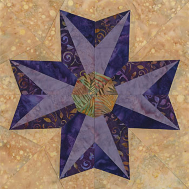 Alamo Star Quilt Block Pattern