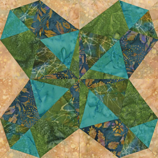 Beautiful Bombay Paper Pieced Quilt Block Pattern