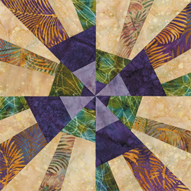Boston Beantown Paper Pieced Quilt Block Pattern