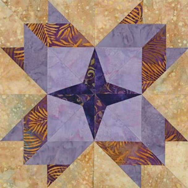 Dallas Huddle Paper Pieced Quilt Block Pattern