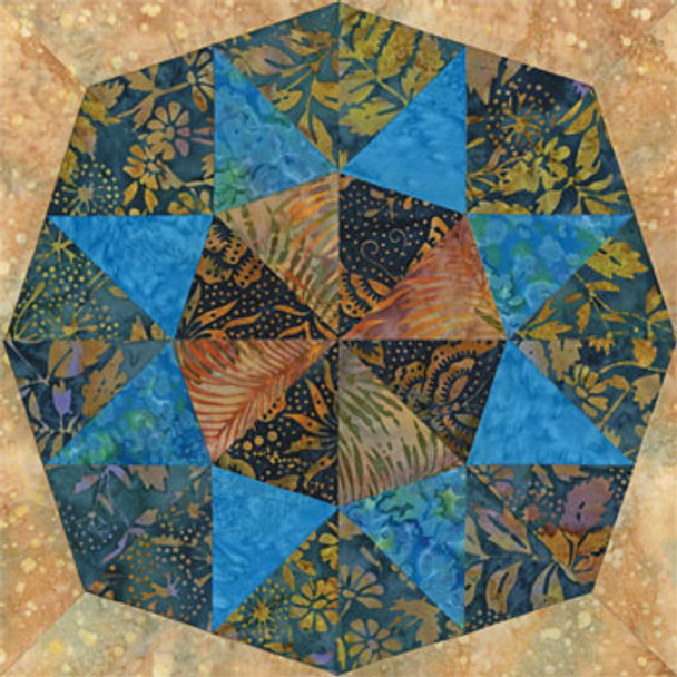 Four Lakes of Madison Paper Pieced Quilt Block Pattern