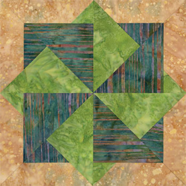 Fort Wayne Trading Post Paper Pieced Quilt Block Pattern