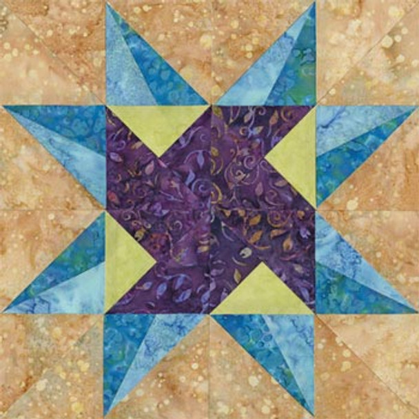 Mountains of Anchorage Paper Pieced Quilt Block Pattern