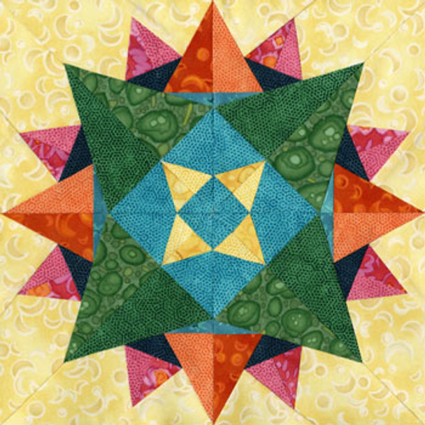 Avoir Paper Pieced Quilt Block Pattern