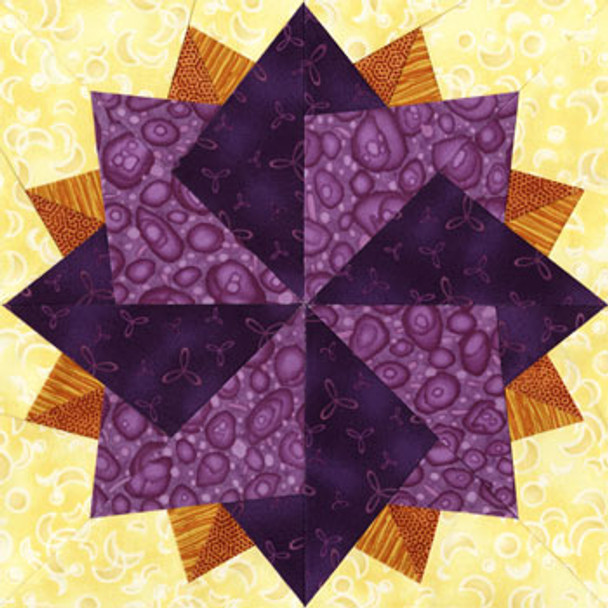 Canopus Paper Pieced Quilt Block Pattern