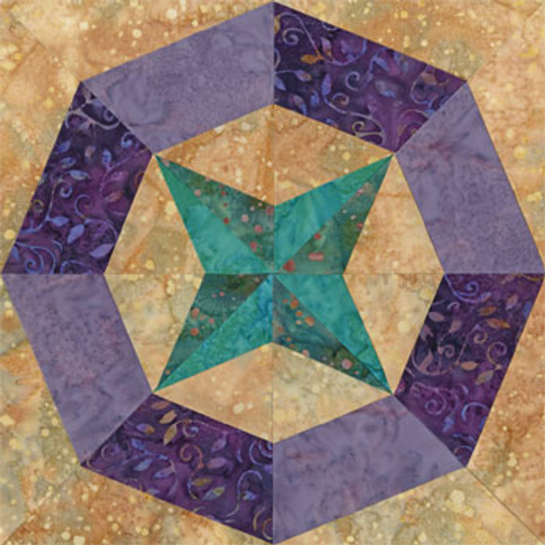 Posh Scottsdale Paper Pieced Quilt Block Pattern