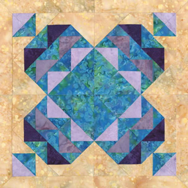 Seoul Elegance Paper Pieced Quilt Block Pattern